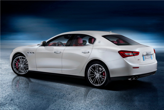2014 Maserati Ghibli sports sedan rear view