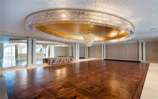 The Ballroom is the size of an average 4-bedroom home in the UK