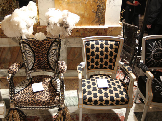 Paris' Crillon Hotel designer bar chair by renowned artists