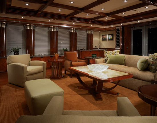By and large, the internal space of the Triton features plenty of woodwork including mahogany wood paneling