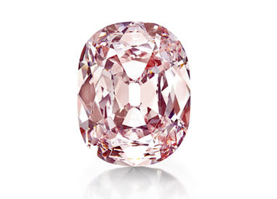 The 'Princie' pink diamond once owned by the Nizam of Hyderbad in India