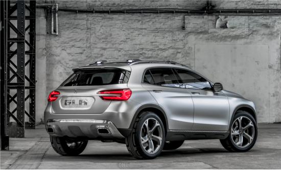 Mercedes-Benz GLA Concept SUV though more aerodynamic, is also subtly aggressive in its looks