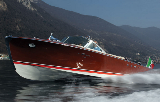 1960 Riva Tritone Special Cadillac Powerboat was specially crafted with wooden panels and other customised fabrications