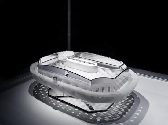 Harry Winston's one-off jewelry box for the Wallpaper Magazine crafted out of a single piece of quartz