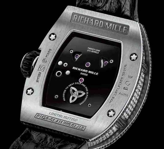 Richard Mille RM 26-01 panda watch caseback which features the individual numbering of the 30 limited edition pieces