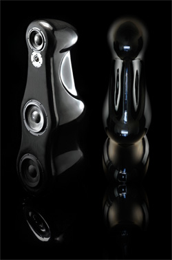"Morel's ""Fat Lady"" Floorstanding Speakers are made of Fiber Carbon"