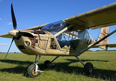 wooden airplane PnvfU 48