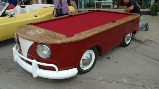 vw bus billiards table r9BiB 48