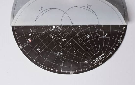 lunar surface star chart