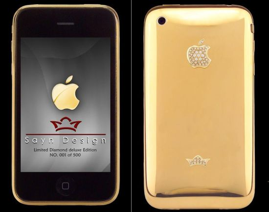 iphone 3g limited diamond deluxe gold edition