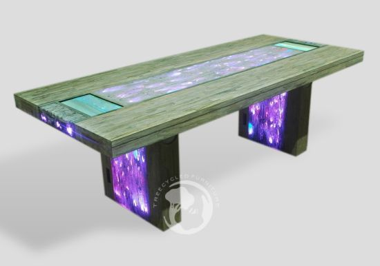 stardust multimedia table with 2 lcd touchscreens