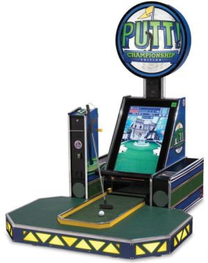 video arcade miniature golf game