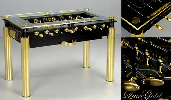 gold lux foosball