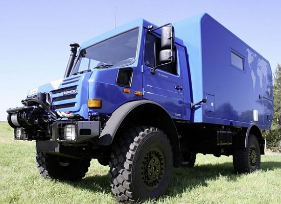 mercedes benz unimog expedition camper concept 1