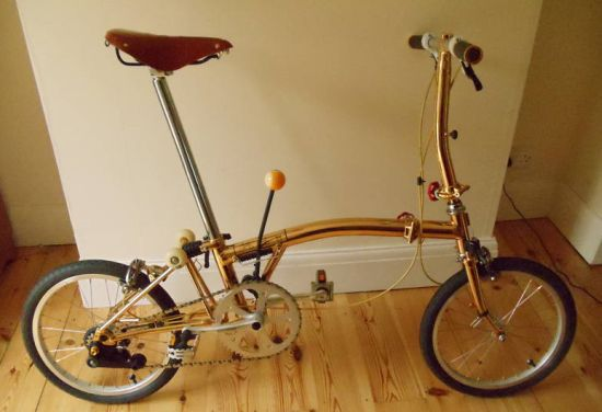 gold plated brompton s2l