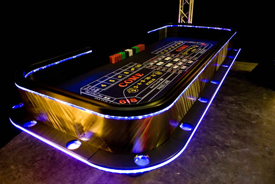 lighted craps table purple persp