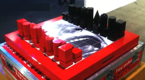 Barbara Kruger's $30,000 talking chess set