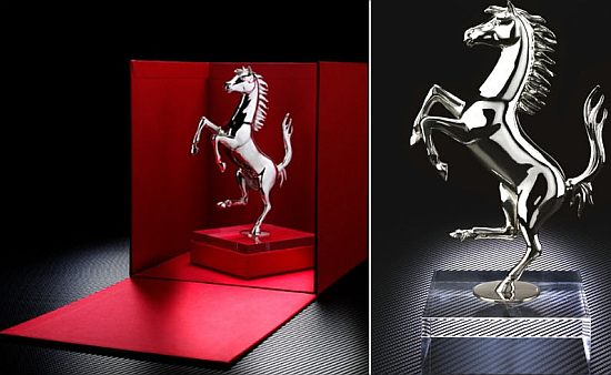 prancing horse silver sculpture 2l5cy 48