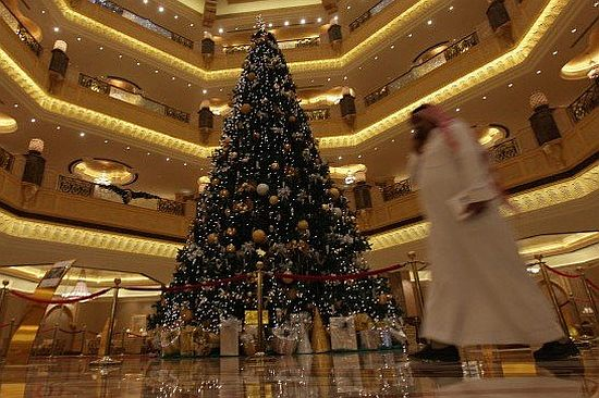emirates palace hotel most expensive christmas tre