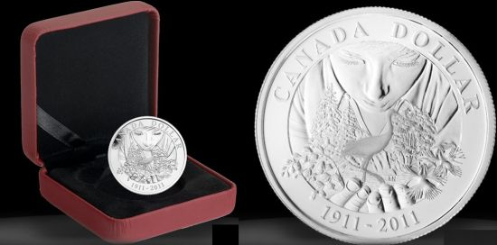 royal canadian mint proof silver dollar