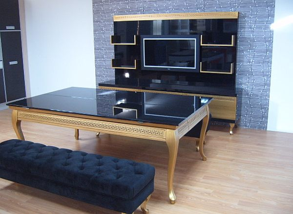 koralturk luxury gold dining pool table