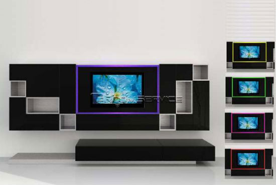 Led tv unit room designs Interior design ideas for led tv
