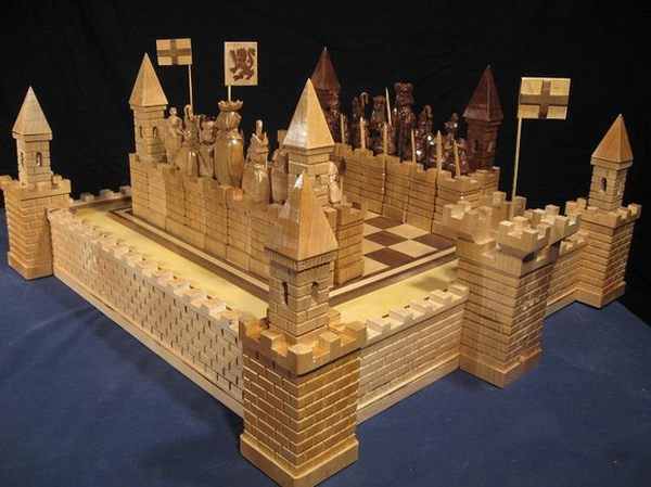 the scottish wars for independence chess set by ji