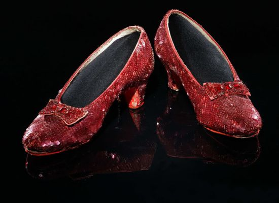 most expensive shoes ruby slippers from wizard of