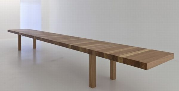the kilometer table by jean nouvel