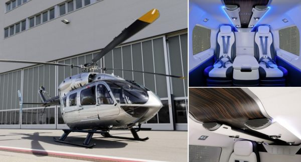 ec145 mercedes benz style helicopter