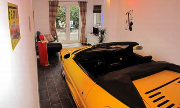 jon ryder ferrari inside his living room